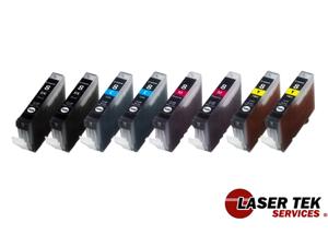 Laser Tek Services ® Ink Cartridges for the Canon CLI-8BK CLI-8C CLI-8M CLI-8Y (2 CLI8BK, 2 CLI8C, 2 CLI8M, 2 CLI8Y)
