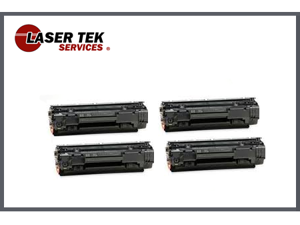 Laser Tek Services® 4PK Compatible Toner Cartridge for Canon 125 CRG-125 3484B001AA ImageClass LBP6000 MF3010 MF-3010