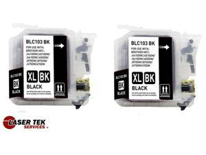 2PK Compatible Ink Cartridge for Brother LC103BK DCP-J152W MFC-J285DW MFC-J650DW MFC-J6920DW MFC-J870DW MFC-J875DW