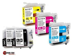 5 Compatible Ink for Brother LC103BK LC103C LC103M LC103Y DCP-J152W MFC-J245 MFC-J285DW MFC-J450DW MFC-J470DW MFC-J475DW