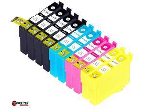 Laser Tek Services® 10 Pack of Epson T126 Replacement Ink Cartridges (4BK, 2C, 2M, 2Y)