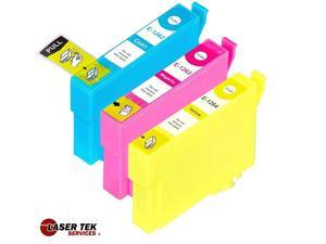 Laser Tek Services® 3 Pack of Epson T126 Replacement Ink Cartridges (1C, 1M, 1Y)