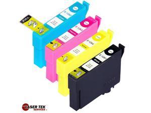 Laser Tek Services® 4 Pack of Epson T126 Replacement Ink Cartridges (1BK, 1C, 1M, 1Y)
