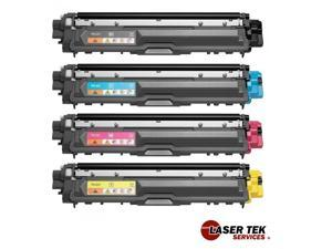 Laser Tek Services® Compatible Brother TN221 4 Pack Toner Cartridge Replacement for the Brother HL-3140CW, HL-3170CDW