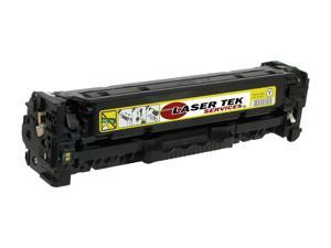 Laser Tek Services® Yellow Toner Cartridge for the HP CB542A 125A Color LaserJet CP1215 CM1312 MFP CP1515n CP1518ni