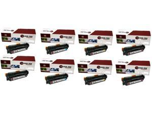 Laser Tek Services® 8 Pack Canon 131 Replacement Toner Cartridges (6272B001AA, 6271B001AA, 6270B001AA, 6269B001AA)