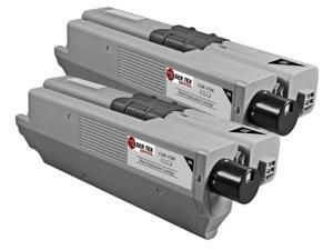 Laser Tek Services® 2 Pack of Okidata 44469801 (Black) Standard Yield Compatible Replacement Cartridges