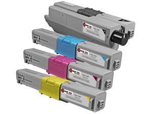Laser Tek Services® 4 Pack of Oki C310/C510 Standard Yield Replacement Cartridges(1x 44469801, 1x 44469703, 1x 44469702, 1x 4469701)