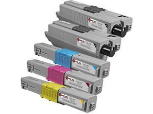 Laser Tek Services® 5 Pack of Oki C310/C510 Standard Yield Replacement Cartridges(2x 44469801, 1x 44469703, 1x 44469702, 1x 44469701)