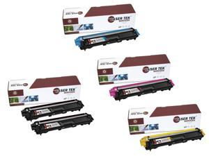 Laser Tek Services® Brother TN221 / TN225 5 Pack Compatible Replacement Toner Cartridges (2K, 1C, 1M, 1Y)