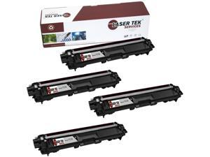 Laser Tek Services® Brother TN221BK / TN225BK Black 4 Pack Compatible Replacement Toner Cartridges