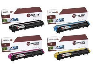 Laser Tek Services® Brother TN221 / TN225 4 Pack Compatible Replacement Toner Cartridges (1K, 1C, 1M, 1Y)