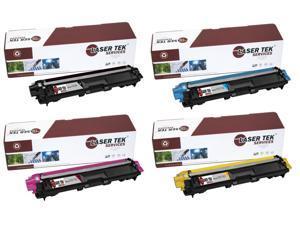 Laser Tek Services® Brother TN221 / TN225 4 Pack Compatible Replacement Toner Cartridges (1K, 1C, 1M, 1Y)