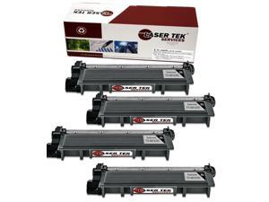 Laser Tek Services ® Brother TN660 (TN-660) / TN630 (TN-630) 4 Pack High Yield Black Compatible Replacement Toner Cartridge