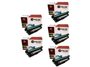 Laser Tek Services® 5 Pack Replacement HP 307A High Yield Toner Cartridges (2 CE740A, 1 CE741A, 1 CE742A, 1 CE743A)