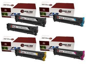 Laser Tek Services® 5 Pack HP131A Replacement Toner Cartridges(2X-CF210A, CF211A, CF212A, CF213A)