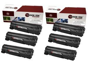 Laser Tek Services® 6 Pack Canon 137 / 9435B001 Replacement Toner Cartridges for the Canon ImageClass MF212w, MF227dw