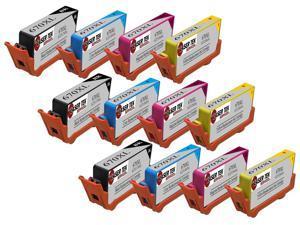 Laser Tek Services® 12PK HP 670XL Replacement Ink Cartridges (3 Black CZ117,3 Cyan CZ118,3 Magenta CZ119,3 Yellow CZ120)