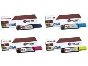 Laser Tek Services® 4PK Replacement Dell 3010 Toner Cartridges (1B 341-3568, 1C 341-3571, 1M 341-3570, 1Y 341-3569)