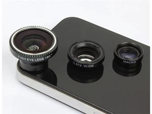 Patazon Magnet 3-in-1 Fisheye Lens + Wide Angle + Micro Lens Photo Kit Set for Mobile Phone