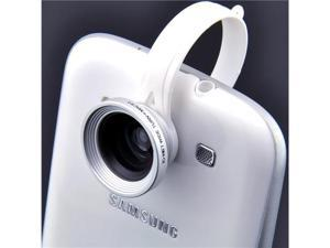 Patazon 2-in-1 Detachable Clip on Wide Angle+Macro Micro Lens for Samsung Galaxy S2 S3 S4 Note 1 2 II N7100 (Silver)