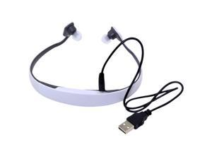 Patazon Rechargeable Bluetooth Sports Stereo Headphone (White)