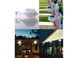 Solar Powered LED Gutter Light Outdoor Garden Home&Garden Yard Fence Lamp Water Resistant Switch 3 LED
