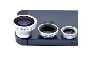 Patazon 3-in-1 180° Fish Eye Lens + Wide Angle + Micro Lens for Mobile Phone