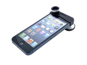Patazon 3 in1 180 Degree Fisheye + Wide Angle + Micro Lens Kit Set Photo for iPhone 5 5G 5S 5C (Silver)