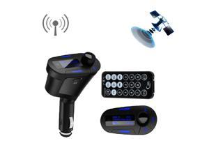 Multi-Function Car MP3 Player Wireless FM Transmitter for iPhone iPod touch Car Mp3/MP4 support USB/ SD MMC Card/ Remote (Blue LCD)
