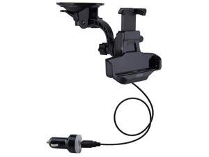 Patazon In Car Windscreen Mount Car Holder Kit with 360 Degrees Rotation Suction Cup Mount Cradle + Car Charger For Sony Xperia Z1 L39h & GPS