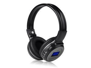 New Gray Wireless Rechargeable Hi-Fi Stereo Headphone Handsfree Headset Earphone with Mic FM Radio 3.5mm Port Support MMC ...