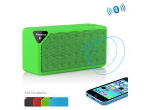 Wireless Mini Portable Bluetooth Stereo TF/USB Speaker with Mic For Apple iPhone 4S 5 5S 5G 5C Samsung Galaxy S5 S4 S3 HTC One M8 LG G2 Moto X Nokia 1520 1020 Sony MP3 MP4 PC Skype MSN - Green