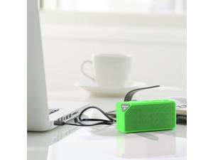 Powered Speakers Support TF/USB For iPhone 5 5S 5G 5C Samsung Galaxy S5 S4 S3 Sony Nokia Smartphones MP3 MP4 PC Tablet Laptop Skype MSN Notobook - Green