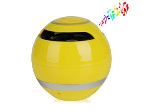 Yellow 3.5mm Jack Wireless Portable Stereo Bluetooth Speaker Super Bass Handsfree Speakers Support USB TF SD For iPhone 5 5S 5C iPad iPod Smartphones MSN Skype PC Tablet