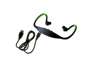 Green Sports Rechargeable Bluetooth Stereo Music Headset Earphone for Mobile Phones - OEM