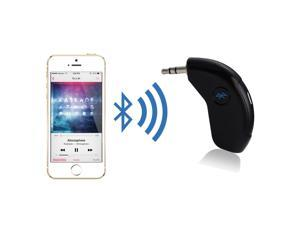 Patazon Bluetooth Handsfree Car Kit AUX Music Audio Receiver with Mic & 3.5mm Output - Black