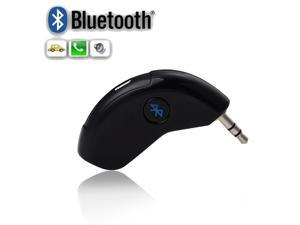 Bluetooth Car AUX Music Audio Receiver Handsfree Car Kit with Mic & 3.5mm Output For Car Home Sound System, iPhone 6 5 Samsung Galaxy S5 S4 Note 3 Sony Xperia Z1 Z2 Blackberry etc. - Black