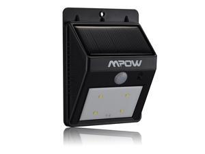 Mpow® Solar Powered Wireless LED Security Motion Sensor Light, Outdoor Wall/garden Lamp Peel 'n Stick Motion Sensor-Detector Activated / For Patio, Deck, Yard, Garden, Home, Driveway, Stairs, Outside