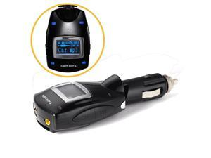 Wireless Blue LCD Car Kit MP3 Player 3.5mm FM Transmitter Support USB/SD Card for Samsung Galaxy S5 S4 S3 Note 4 3 2 Nokia Lumia 930 920 830 820 Sony Xperia Z1 Z2 HTC One M8 M7 Desire X etc.