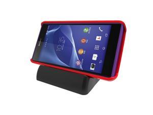Universal Data Sync Desktop Charger Magnetic Adjustable Charging Dock Cradle for Sony Xperia Z Ultra, Z1, Z1 mini, Xperia Z2, Sony Smartphones - Black