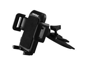 Mpow@ Grip Pro 2 Universal Easy CD Slot Car Mount Holder Cradle with Just A Push, 360 Degree Rotation for iPhone 6, Samsung Galaxy, HTC MotoX Sony and More