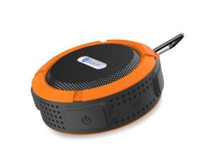 Orange Mini Waterproof Handsfree Bluetooth 3.0 A2DP Stereo Sport Speaker with Suction Cup for iPhone 6 Plus 5S 5C 5 Samsung Galaxy S5 S4 Note 4 3 HTC One M8 M7 Desire 820 Sony Nokia