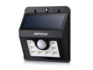 Mpow Solar Powered Wireless 8 LED Security Motion Sensor Light with Three Intelligient Modes