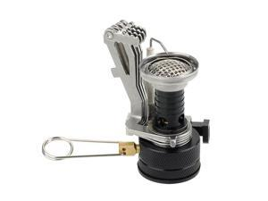 Ultralight Mini Outdoor Backpacking Canister Camp Stove Burner Furnace with Piezo Ignition 3.9oz