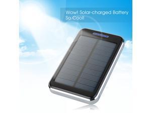 External Portable 16000mAh Solar Power Panel Power Bank Dual USB Ports Battery Charger Backup for Samsung Galaxy S5 S4 S3 Note 3 2 Tab LG G2 G3 HTC ONE M8 M7 Smartphones MP3 MP4 PDA PSP - Black