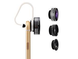 Mpow@ 3 in 1 Clip-On 180 Degree Supreme Fisheye + 0.65X Wide Angle + 10X Macro Lens For iPhone 6 / 6 Plus, iPhone 5 5S 4 4S Samsung HTC