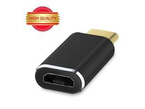 USB Type-C to Micro USB Convert Connector Support Data Transfer and Charging for MacBook 12inch 2015, ZUK Z1, MI 4C, Nokia N1, Chromebook Pixel 2015, OnePlus 2 and other Type-C Supported Tablet- Black