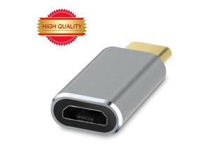 USB Type-C to Micro USB Convert Connector Support Data Transfer and Charging for MacBook 12inch 2015, ZUK Z1, MI 4C, Nokia N1, Chromebook Pixel 2015, OnePlus 2 and other Type-C Supported Tablet- Gray