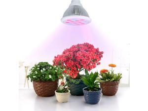 12 LED Plant Grow Lights 36W E27 Growing Bulbs For Garden Greenhouse and Hydroponic - Full Spectrum 3 Bands Growing Combination (660nm and 630nm Red and 460nm Blue)